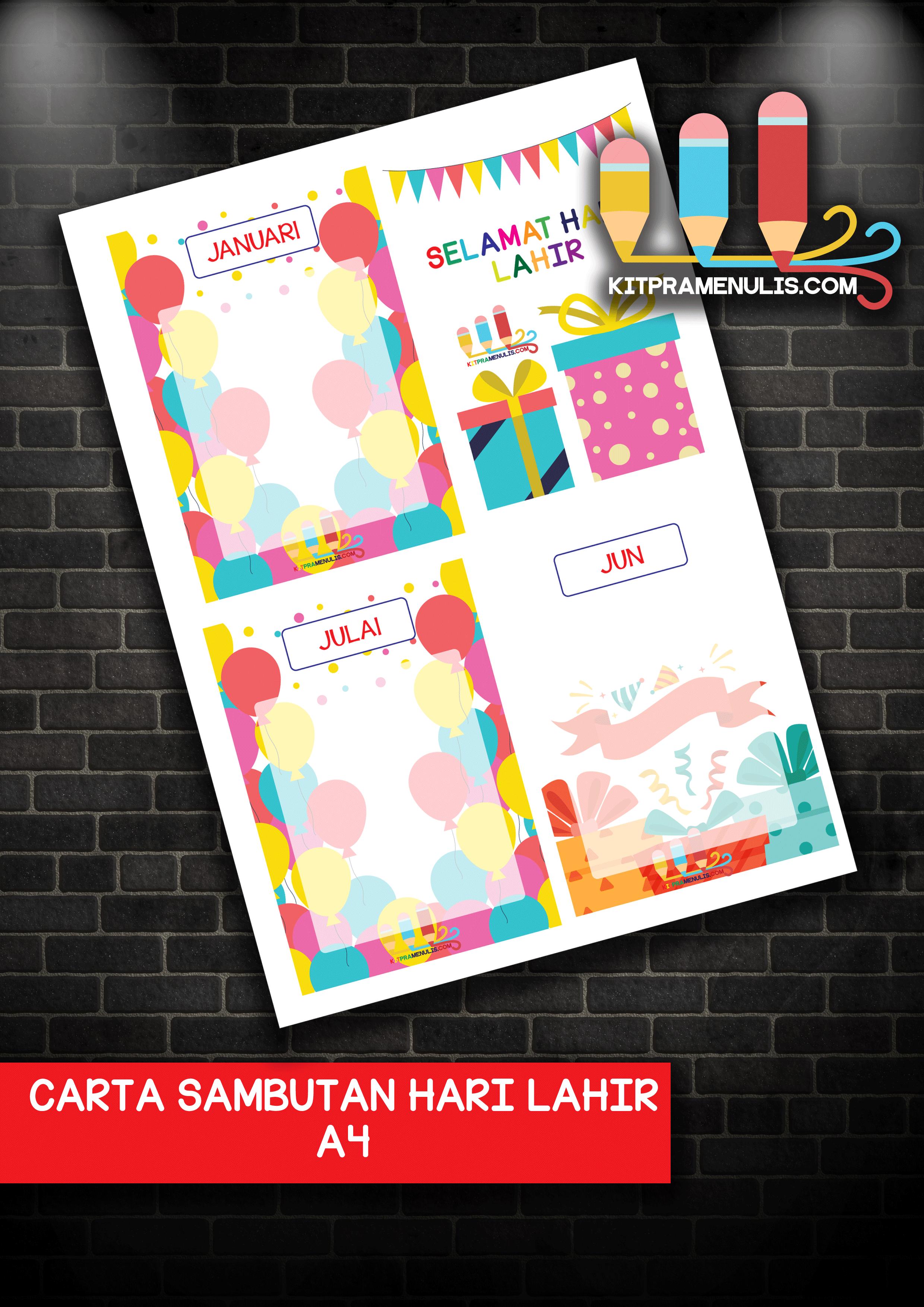 CARTA-SAMBUTAN-HARI-LAHIR-A4 Carta Sambutan Hari Lahir A4
