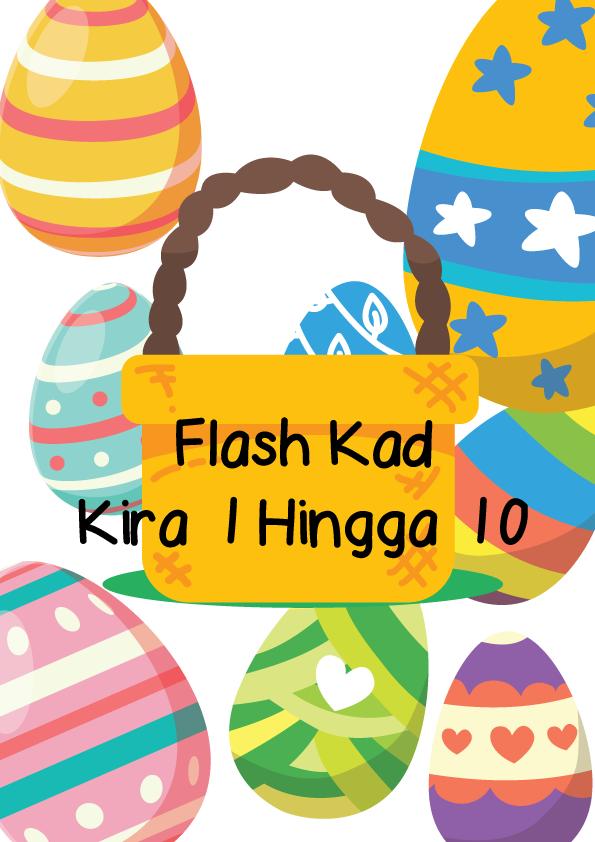 FLASH-KAD-TELUR Flash Kad Percuma Prasekolah Pendidikan Khas | Kira 1 Hingga 10 Tema Telur