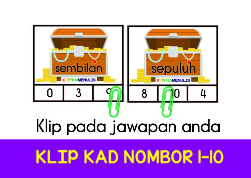 Untitled-10-01 Klip Kad Nombor 1-10 Tema Harta Karun