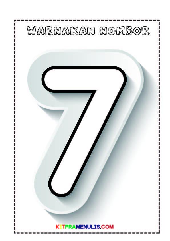Warna-nombor-1-10-Grafik-Cantik-11 Lembaran Kerja Warna Nombor 1 Hingga 10