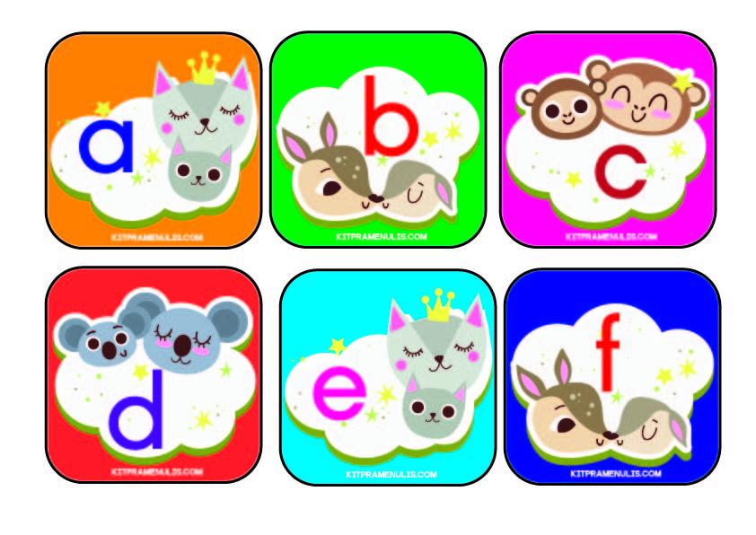 Flip-Kad-A-Z-Tema-Haiwan-01 BBM Flip Kad Huruf Kecil Tema Haiwan