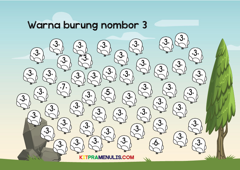 Mini-Worksheet-1-10-Tema-Burung-11 Mini Worksheet 1-10 Tema Burung