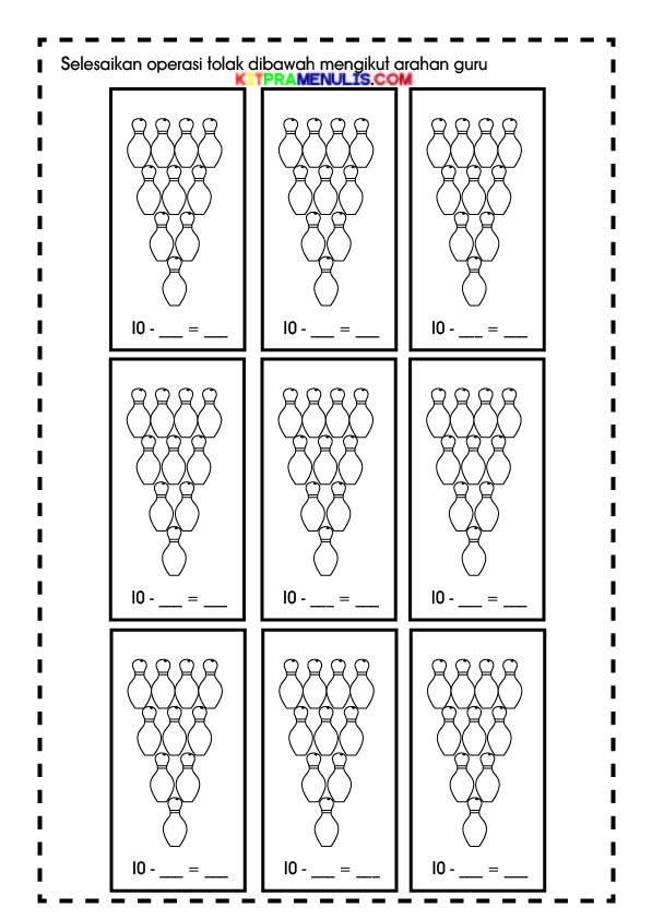 Papan-Tolak-1-10-Tema-Bola-Boling-01 Papan Operasi Tolak 1-10 Tema Pin Boling