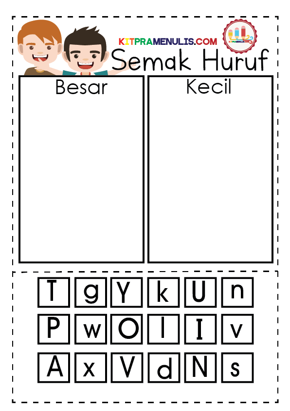 Mini-Worksheet-Semak-Huruf-Besar-dan-Kecil-01 Mini Worksheet Semak Huruf Besar Dan Kecil