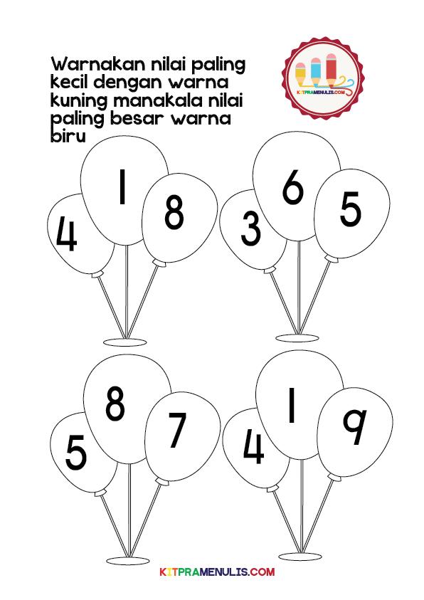 Nilai-Paling-Besar-dan-Kecil-1-10-01 Lembaran Kerja Matematik Pendidikan Khas