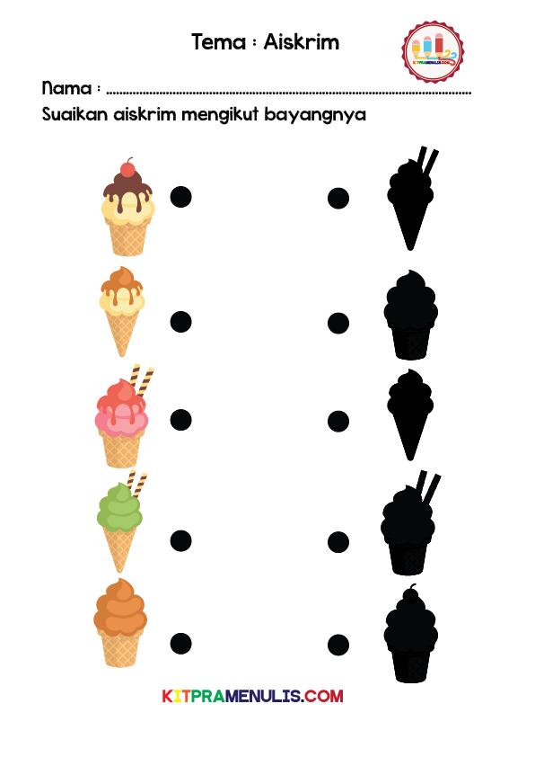 Suaikan-bayang-tema-Aiskrim-01 Lembaran Kerja Suaikan Objek Dengan Bayangnya