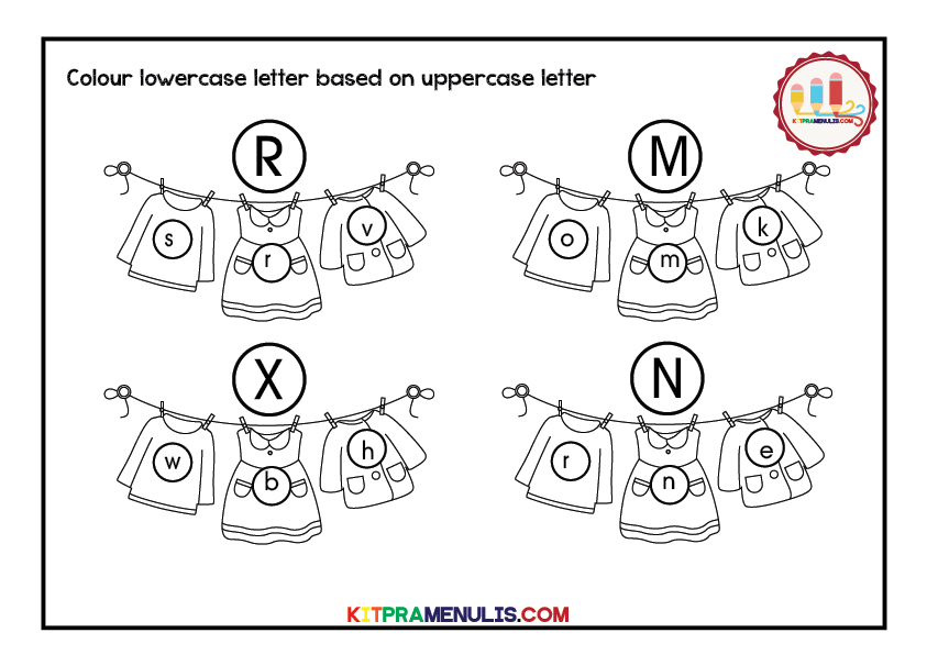 lowercase-letter-and-uppercase-finding-01 Uppercase Letter And Lowercase Letter Finding Worksheet Preschool