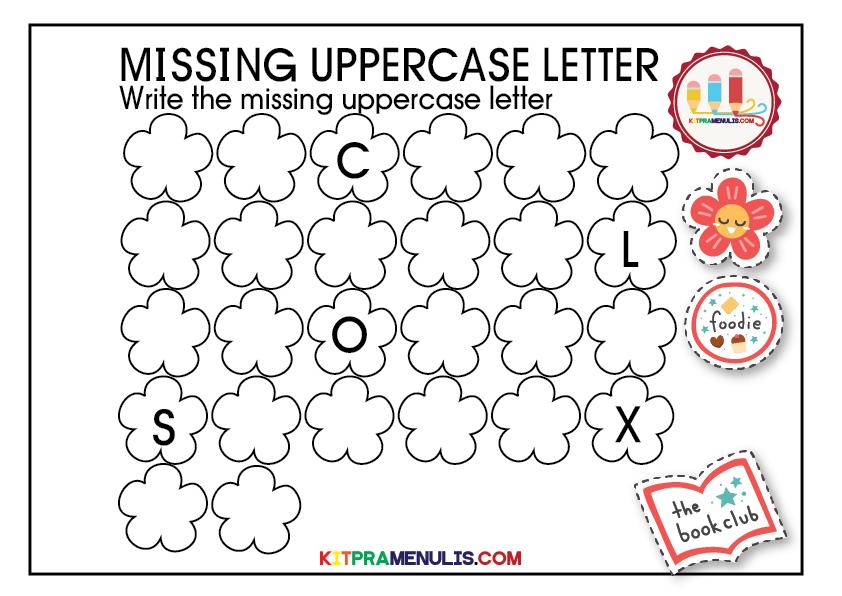 missing-uppercase-letter-01 The Missing Uppercase Letter Worksheet