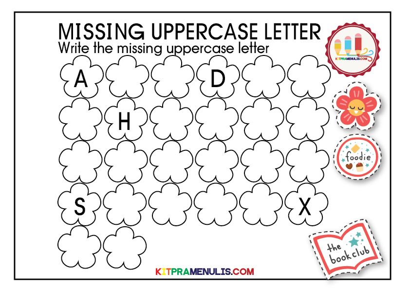 missing-uppercase-letter-01 The Missing Uppercase Letter Worksheet