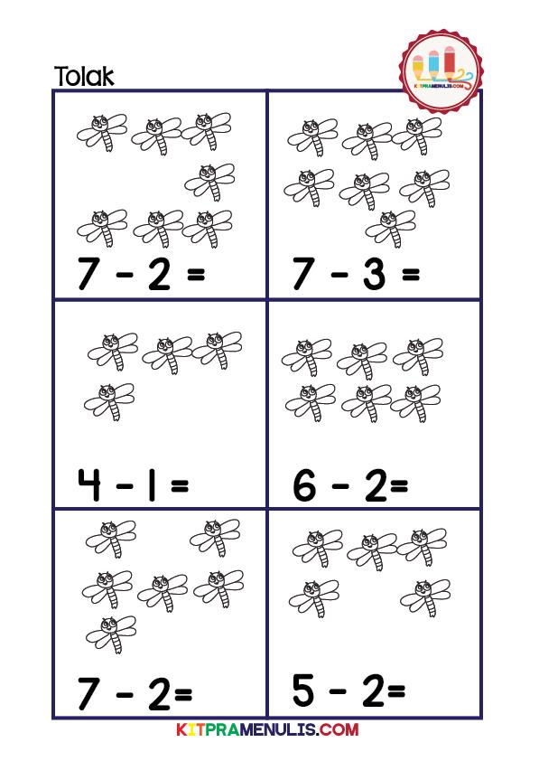 Latihan Matematik Operasi Tolak Prasekolah Kitpramenulis