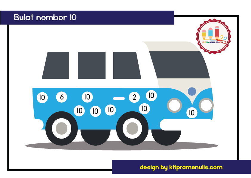 saya-kenal-1-10-tema-van-01 Lembaran Kerja Saya Kenal Nombor 1 Hingga 10 Tema Van