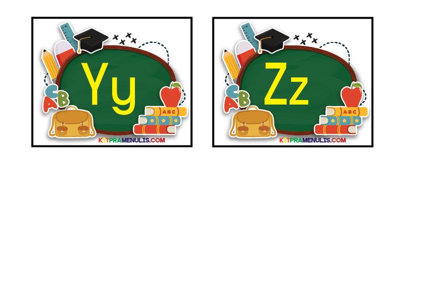 Flash-Kad-a-z-Tema-Alat-Tulis-Papan-01 BBM Flash Kad Huruf Kecil Dan Besar A Hingga Z Pendidikan Khas