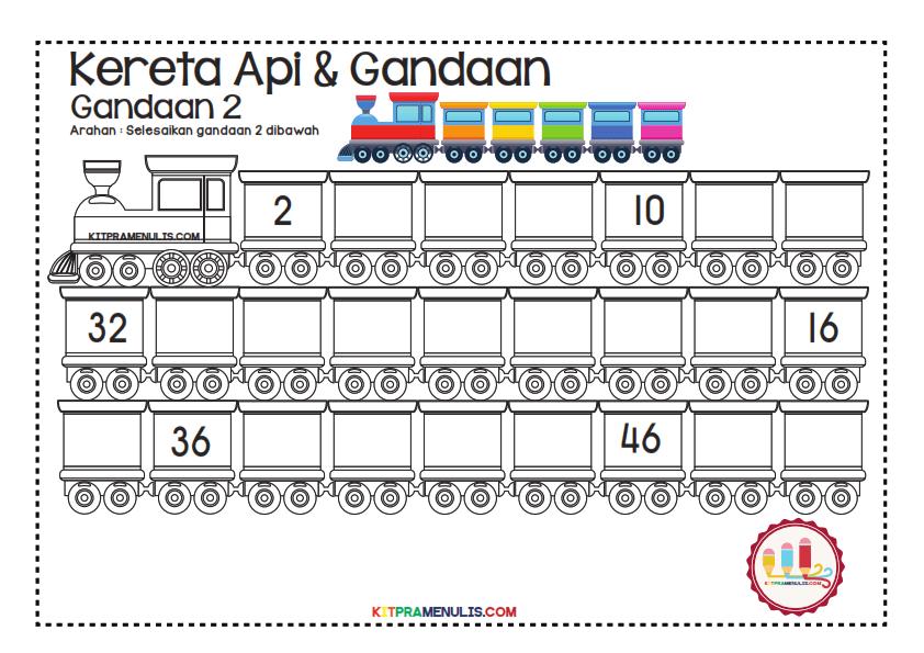 Gandaan-2-90-Tema-Keretapi_001 Lembaran Kerja Gandaan 2