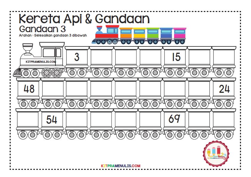 Gandaan-2-90-Tema-Keretapi_002 Lembaran Kerja Gandaan 3