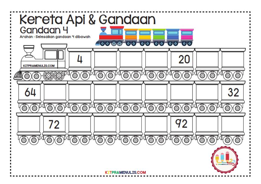 Gandaan-2-90-Tema-Keretapi_003 Lembaran Kerja Gandaan 4