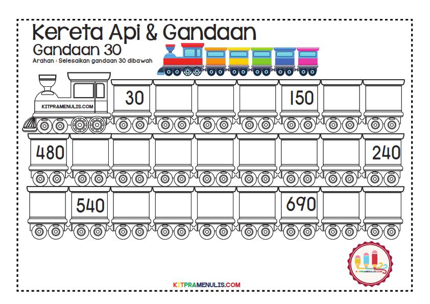 Gandaan-2-90-Tema-Keretapi_011 Lembaran Kerja Gandaan 30