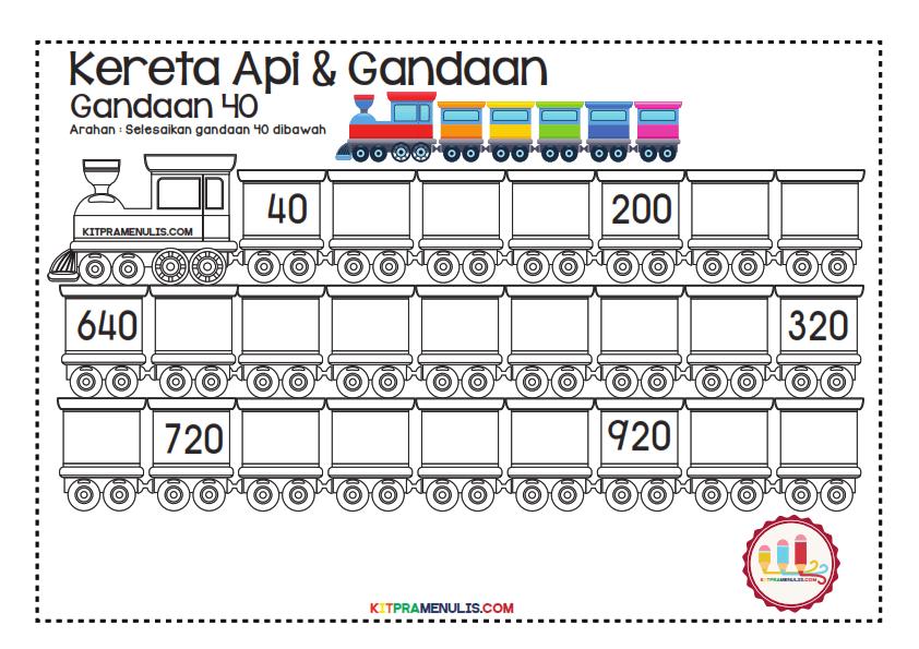 Gandaan-2-90-Tema-Keretapi_012 Lembaran Kerja Gandaan 40