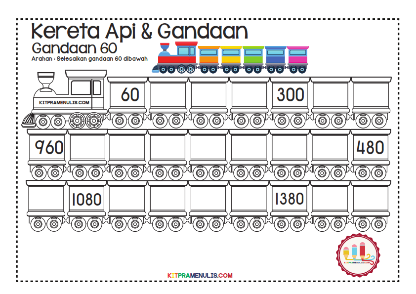 Gandaan-2-90-Tema-Keretapi_014 Lembaran Kerja Gandaan 60