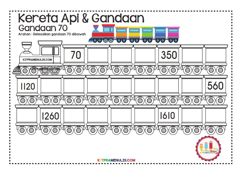 Gandaan-2-90-Tema-Keretapi_015 Lembaran Kerja Gandaan 70