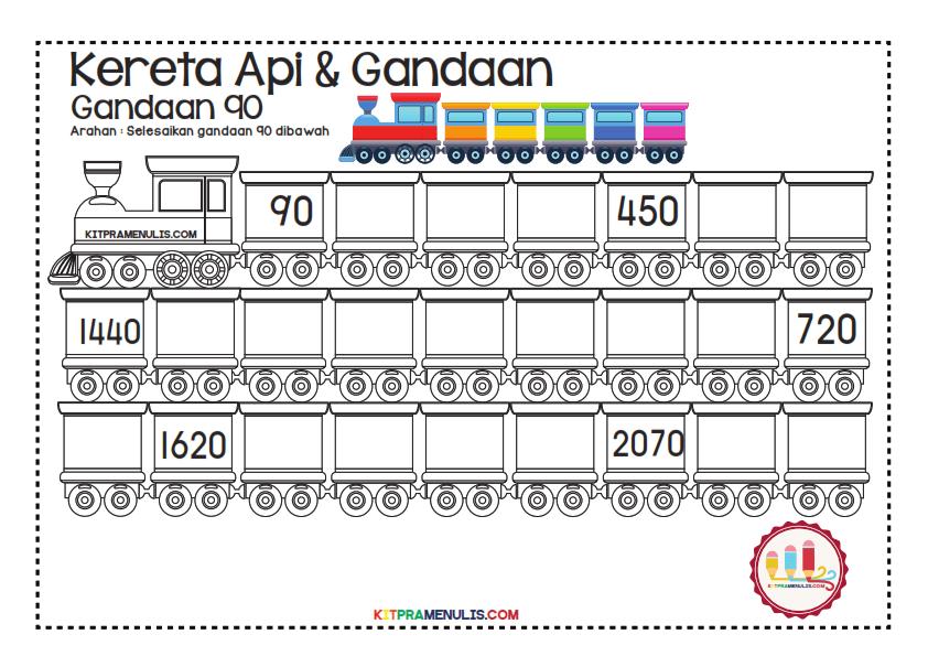 Gandaan-2-90-Tema-Keretapi_017 Lembaran Kerja Gandaan 90