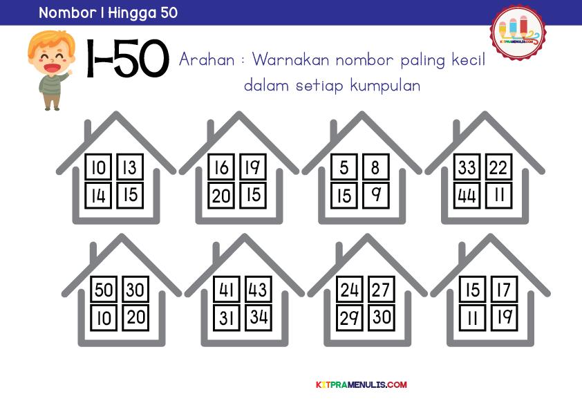 Mini-Worksheet-1-50-Tema-Family-01-1 Uji Minda Matematik 1 Hingga 50 Prasekolah