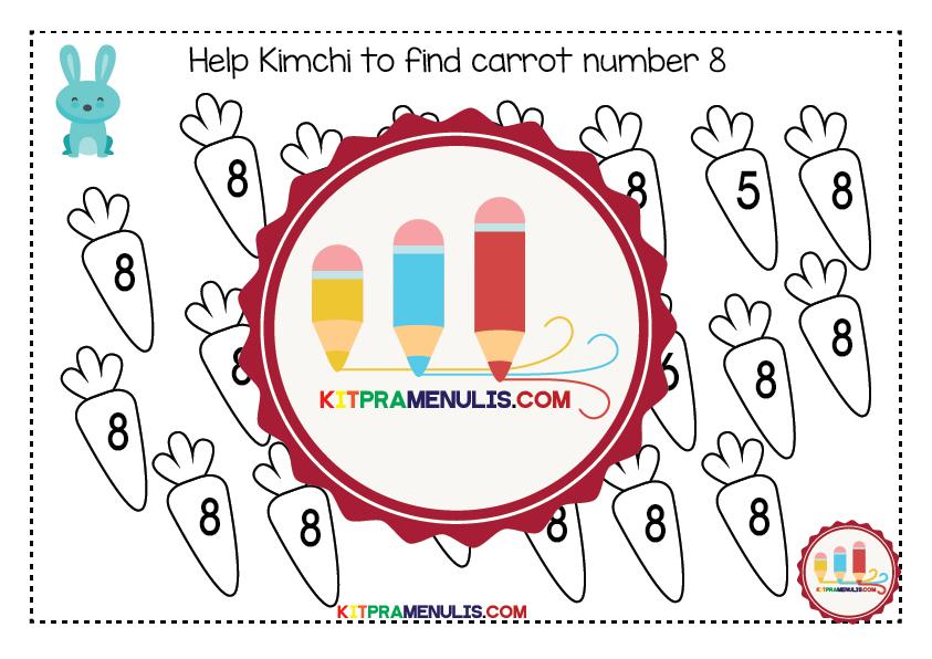 Preschool-Mini-Worksheet-I-Know-1-To-10-04-01 Preschool Mini Worksheet | I Know Number 1 To 10 Theme Rabbit And Carrot