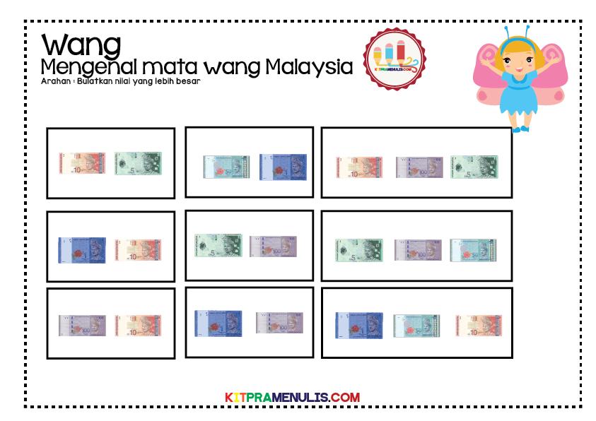 lembaran-kerja-mengenal-wang-13 Lembaran Kerja Mengenal Wang | Bulat Nilai Wang