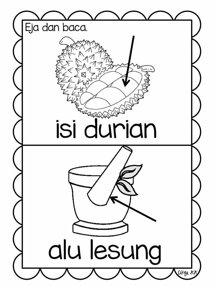 rangkai-kata-bahasa-melayu Mari Belajar Mengeja Dan Baca Perkataan Mudah Sesuai Prasekolah