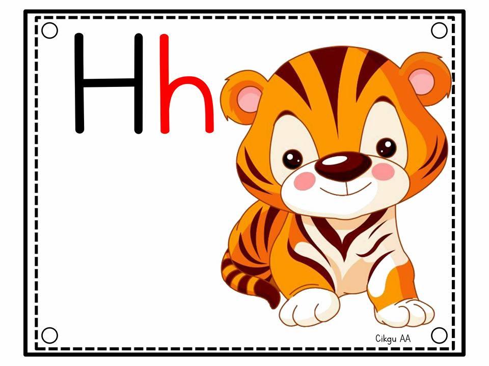 kad-bergambar-huruf-a Kad Bergambar A Hingga Z | Belajar Huruf Kecil Prasekolah