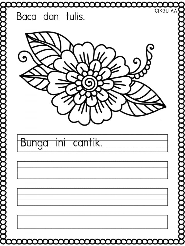530X350-01 Lembaran Kerja Prasekolah Bahasa Melayu Menulis Ayat Mudah