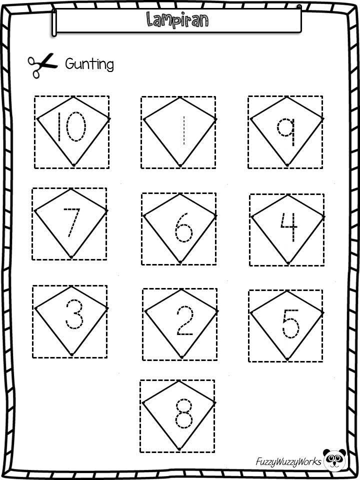 Lembaran Kerja Prasekolah Lembaran Kerja Matematik Mengenal Nombor 1 Hingga 10 Kitpramenulis