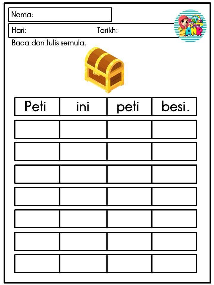 latihan-menulis-ayat-mudah Latihan Menulis Ayat Mudah