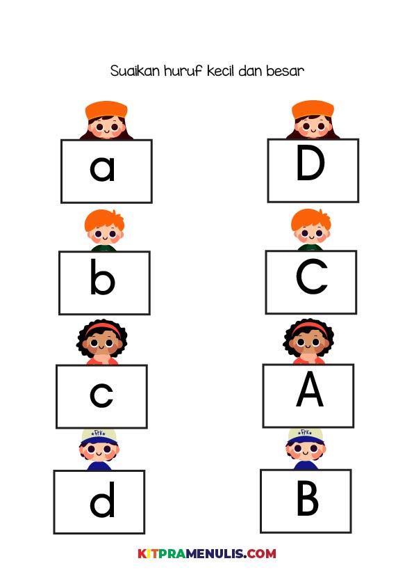 Mengenal-huruf-besar-dan-kecil-01 Mini Prasekolah | Latihan Mengenal Huruf Besar Dan Kecil