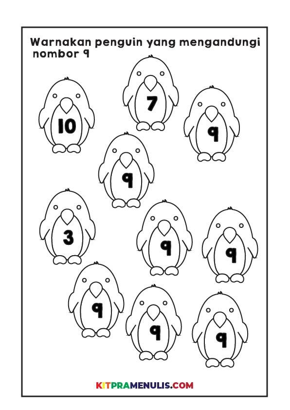 Mengenal nombor 1 hingga 10