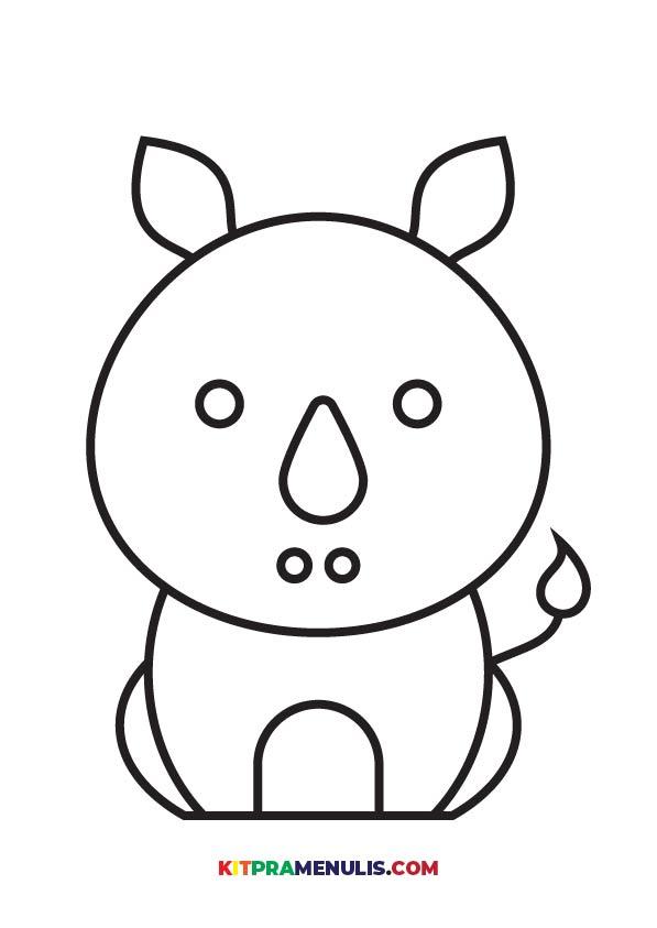 Warna-Haiwan-01 Mini Prasekolah   Latihan Mewarna Haiwan Grafik Berkualiti