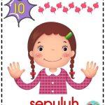 kad nombor 1 hingga 10 untuk kanak-kanak 5 tahun