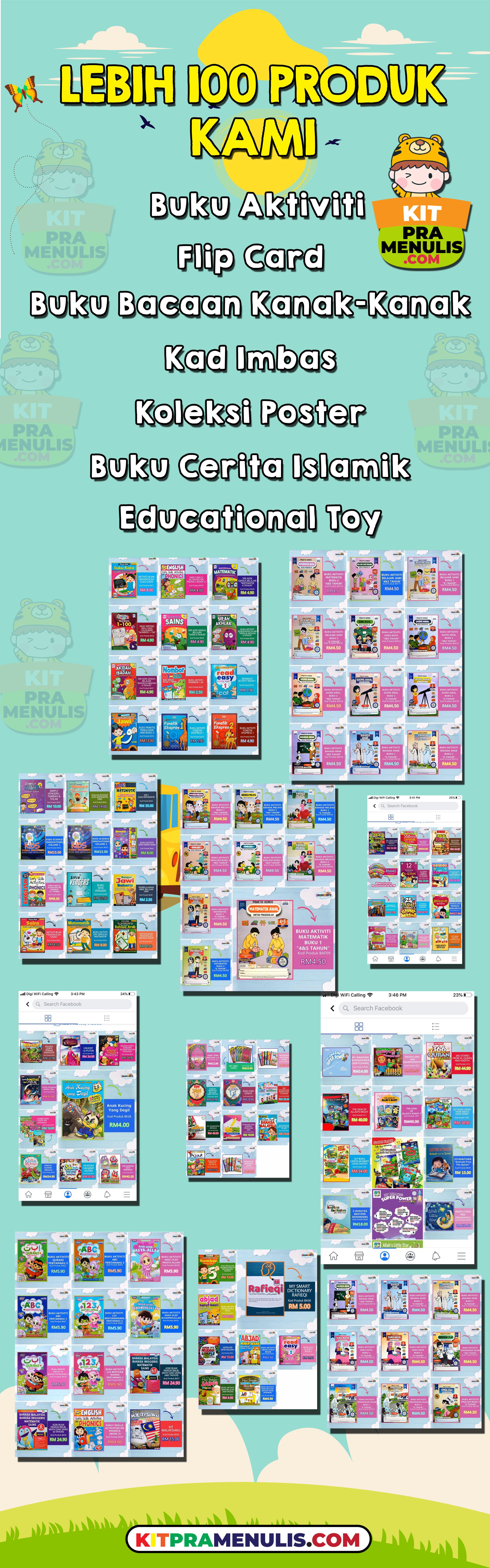 1 Jom Daftar Agen Buku Kanak-Kanak Dan Dapatkan Buku Prasekolah Dengan Harga Murah