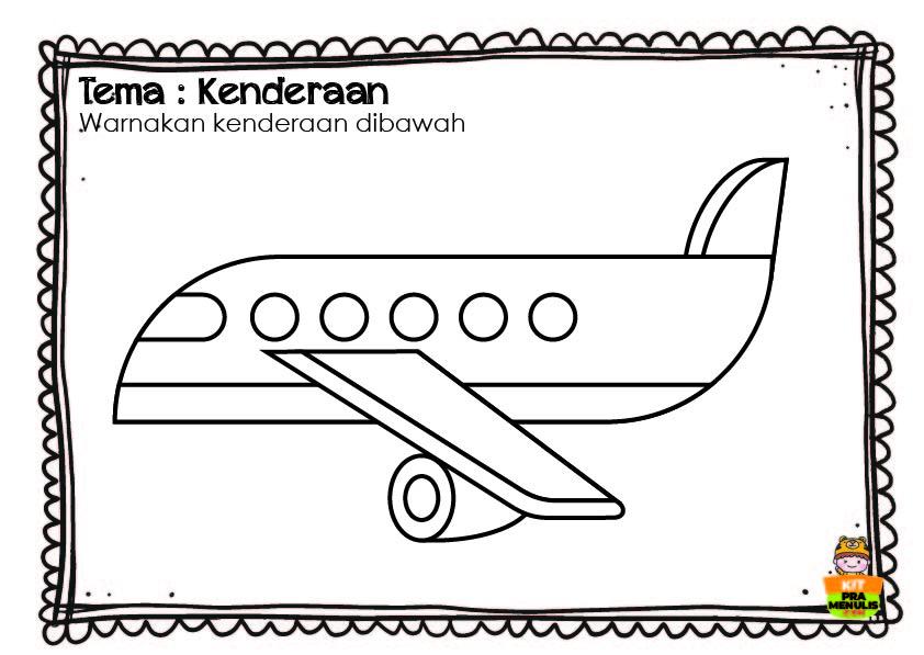 WARNA-KENDERAAN-LK-01 Jom Mewarna Tema Kenderaan Untuk Anak-Anak Umur 3 Tahun