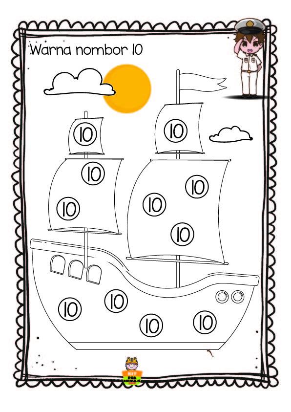 BIJAK-NOMBOR-1-10 Lembaran Kerja Pendidikan Khas Mengenal Nombor 1 Hingga 10