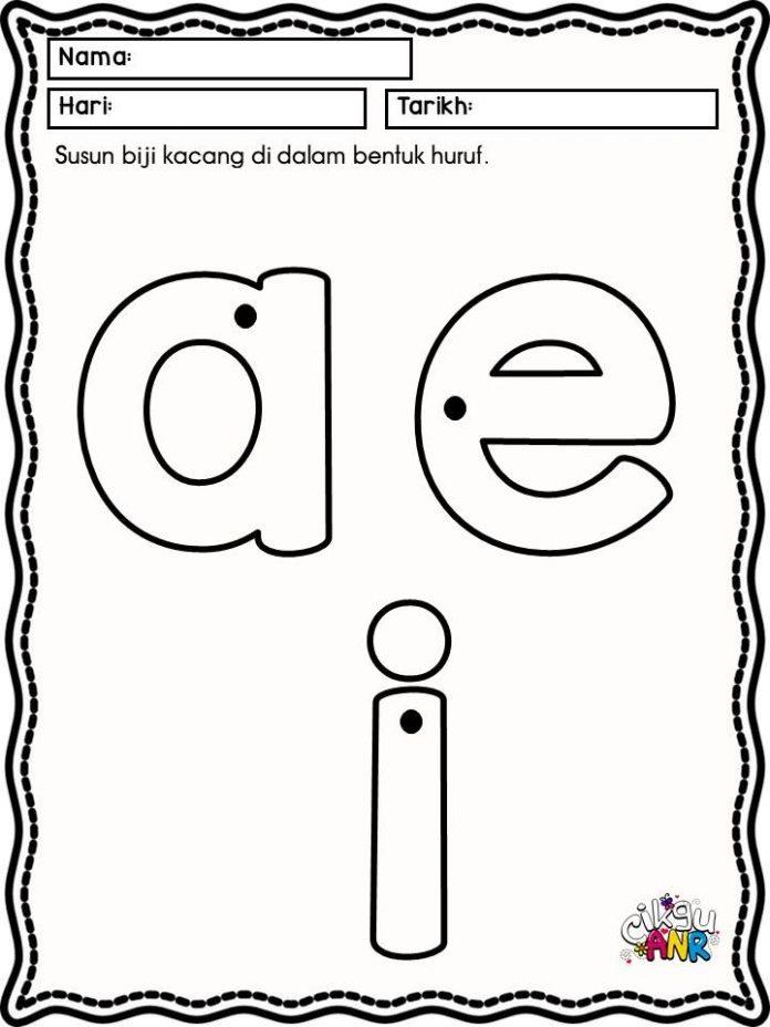 huruf vokal aeiou prasekolah pendidikan khas
