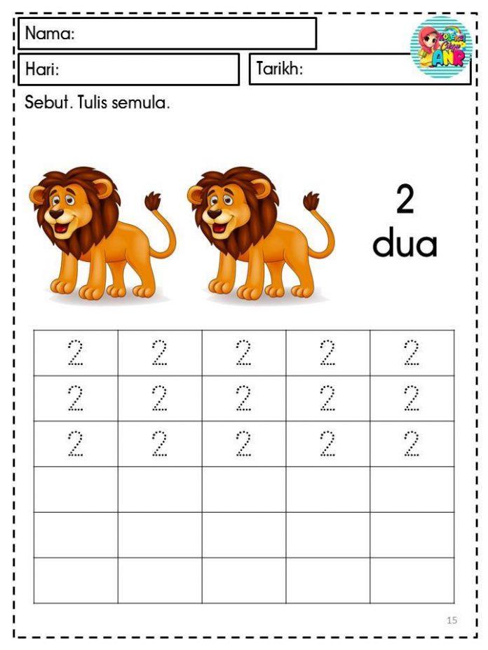 lembaran kerja matematik 1 hingga 10
