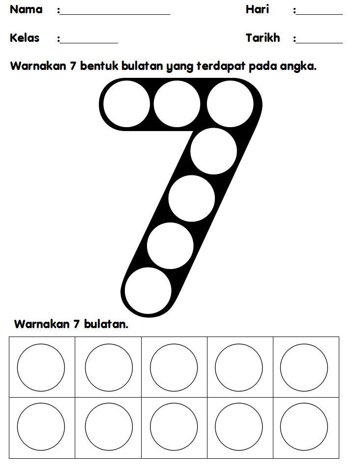 lembaran-kerja-nombor-1-hingga-10 Mari Mengenal Dan Menulis Nombor 1 Hingga 10 Untuk Pendidikan Khas