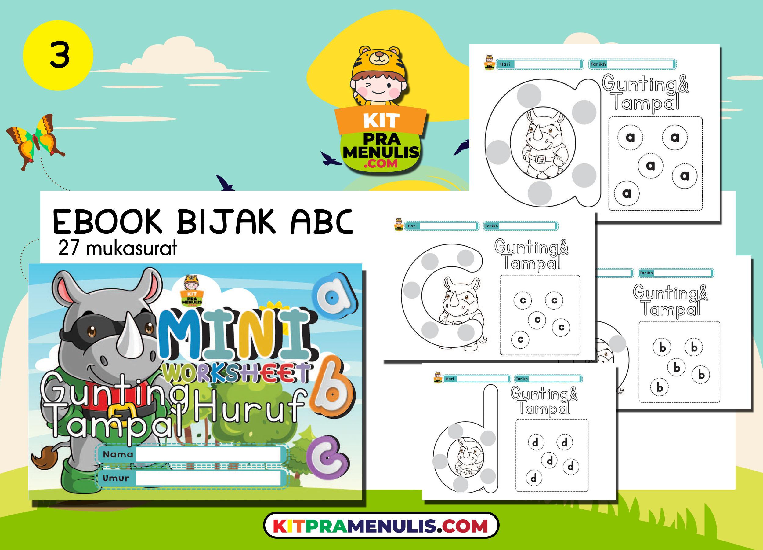 5-EBOOK-BIJAK-ABC 14 Koleksi Ebook Latihan Bijak ABC Dan Bijak Nombor 1 Hingga 10
