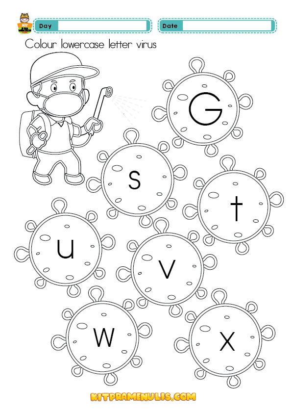 LOWERCASE-AND-UPPERCASE-LETTER-01 Uppercase And Lowercase Letter Worksheet For Preschool And Kid 4 Years Old