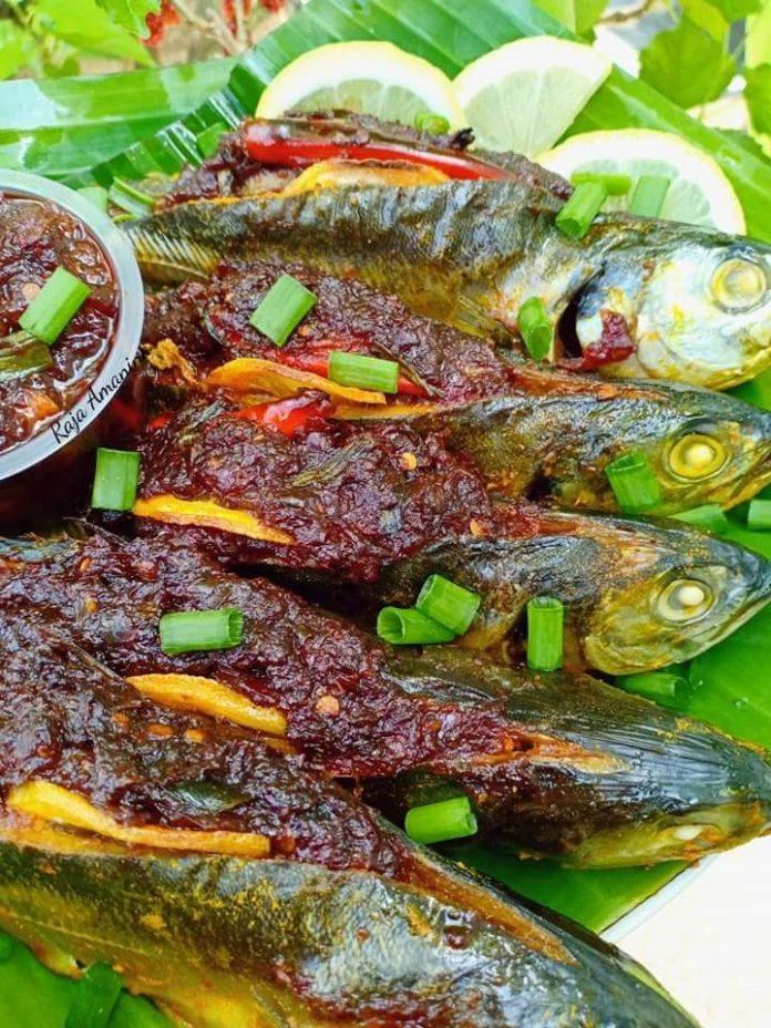 Resepi Ikan Cencaru Sumbat Sambal