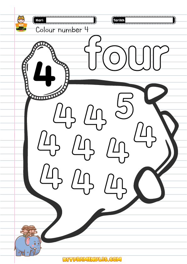 colouring-number-worksheet-one-to-ten-01 Colouring Number 1 Ton Ten For Preschool And PPKI