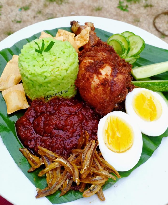 nasi lemak daun pandan resepi