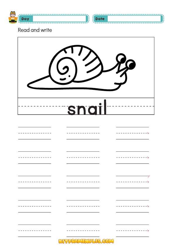 read-and-write-word-for-preschool-01 Read And Write Word Worksheet For Preschool