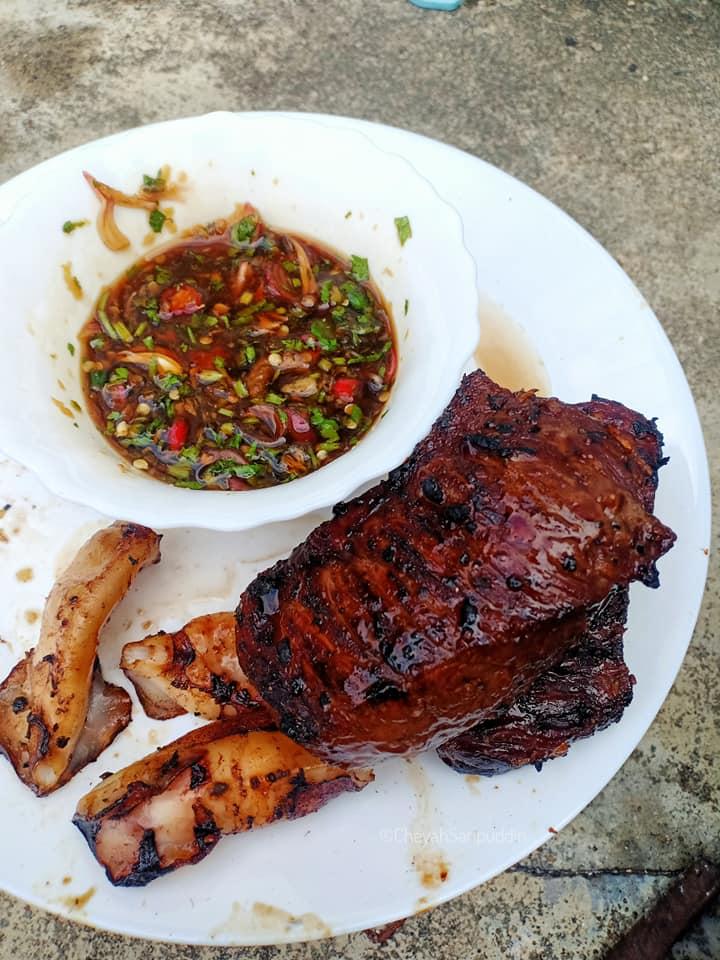 resepi-daging-bakar-mudah-4 Resepi Daging Bakar Mudah Sedap Dicicah Sos Ala Thai