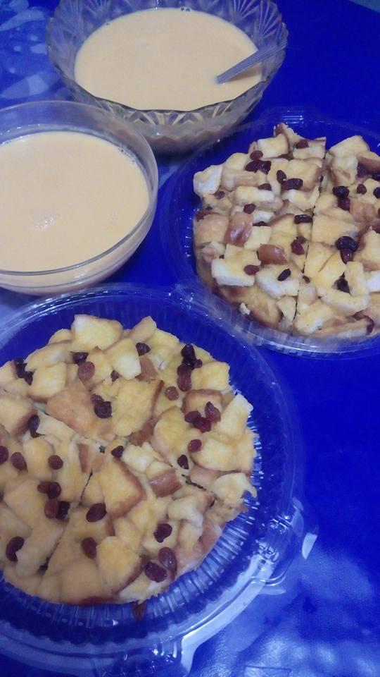 resepi-puding-roti-kukus-2 Resepi Puding Roti Kukus Bersama Sos Kastard Berlemak Untuk Minum Petang